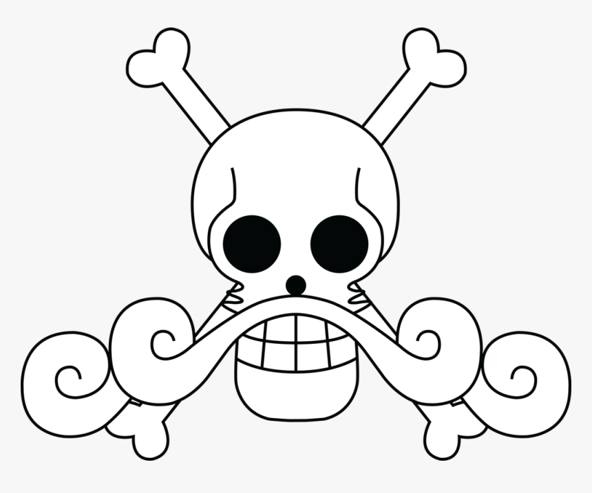 Drawing Pirates Pirate Flag Banner Freeuse Stock - One Piece Gol D Roger Jolly Roger, HD Png Download, Free Download