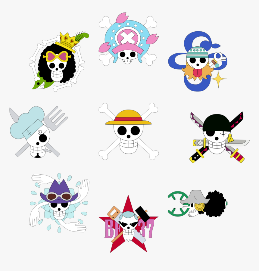 Transparent Jolly Roger Png - One Piece Crew Jolly Rogers, Png Download, Free Download