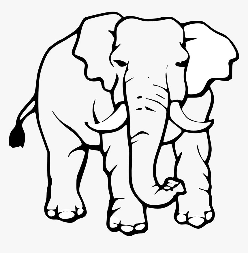 Free Download Clip Art Elephant Images Black And White Hd Png Download Kindpng African elephant mother with baby black white. download clip art elephant images