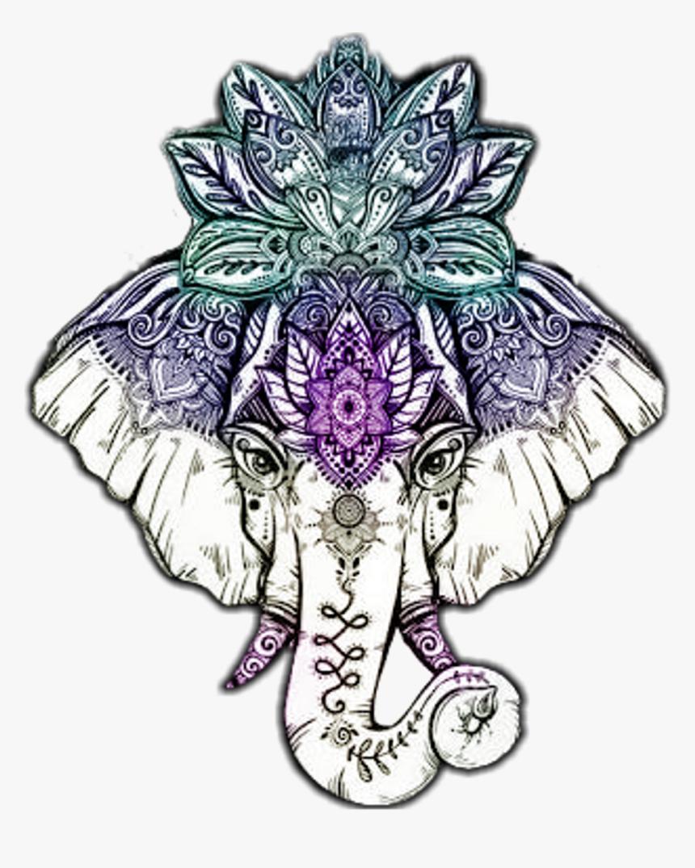 Thai Elephant Head Tattoo , Png Download - Mandala Elephant Head Tattoo, Transparent Png, Free Download