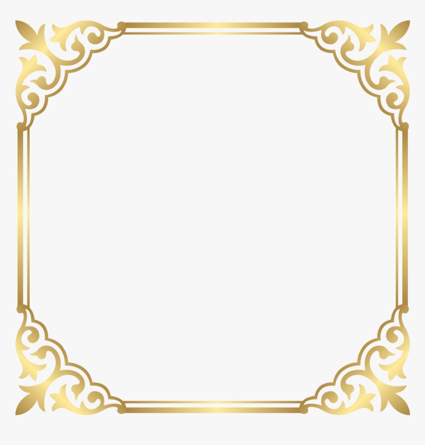 Fancy Gold Border Png- - Border Frame Gold Png, Transparent Png, Free Download