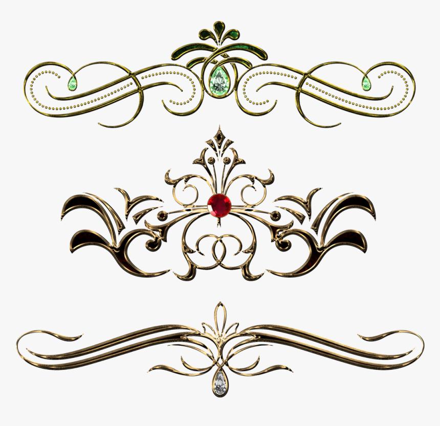 Transparent Gold Design Clipart - Vintage Pattern Design Png, Png Download, Free Download