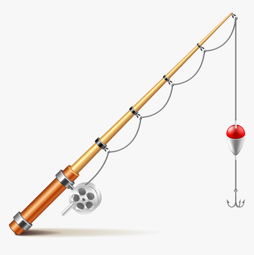 Fishing Rod Euclidean Vector Illustration - Fishing Pole Png Transparent Background, Png Download, Free Download