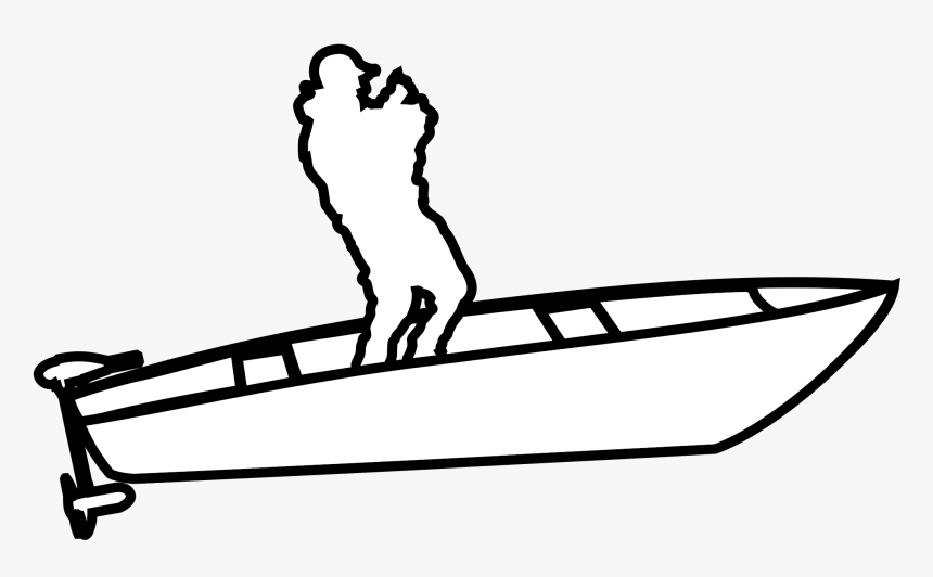 Rod Drawing Transparent Png Clipart Free Download - Man On A Boat Drawing, Png Download, Free Download