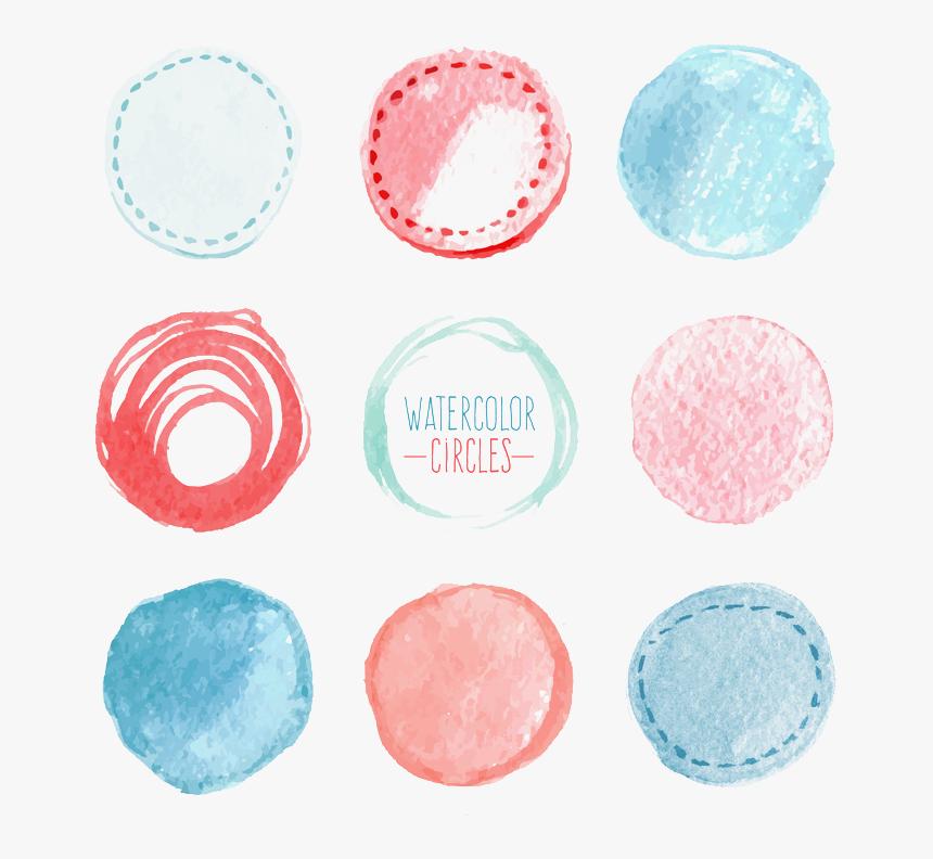 Euclidean Vector Watercolor Painting Circle Download - Png Circle Brush Paint, Transparent Png, Free Download