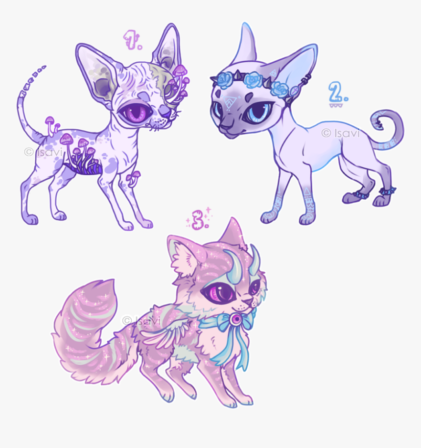 Pastel Auction Closed By - Pastel Goth Cat, HD Png Download, Free Download