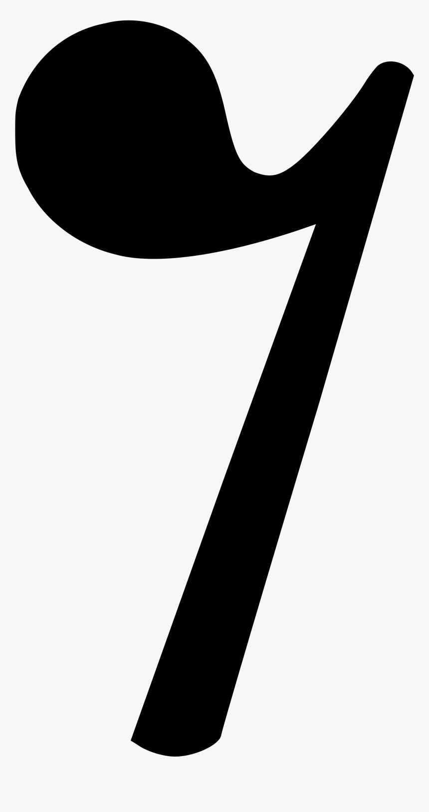 Eighth Rest Music Symbol - Eighth Rest Symbol In Music, HD Png Download, Free Download