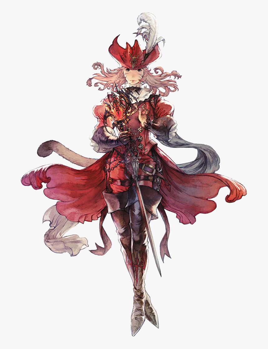 Red Mage Ffxiv Art, HD Png Download, Free Download