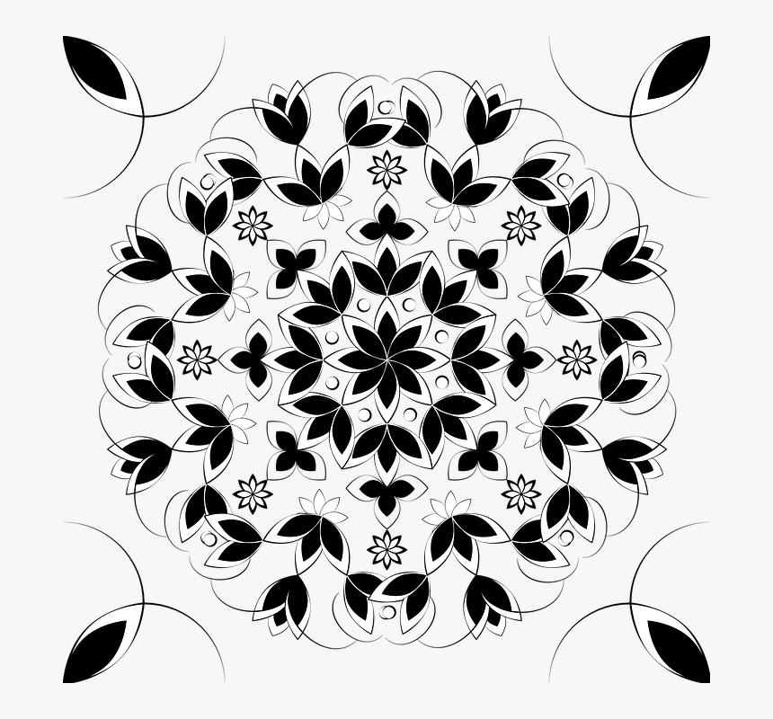 Pattern, Design, Flower, Round, Background, Black - Sherwin Williams Color Forecasting 2020, HD Png Download, Free Download