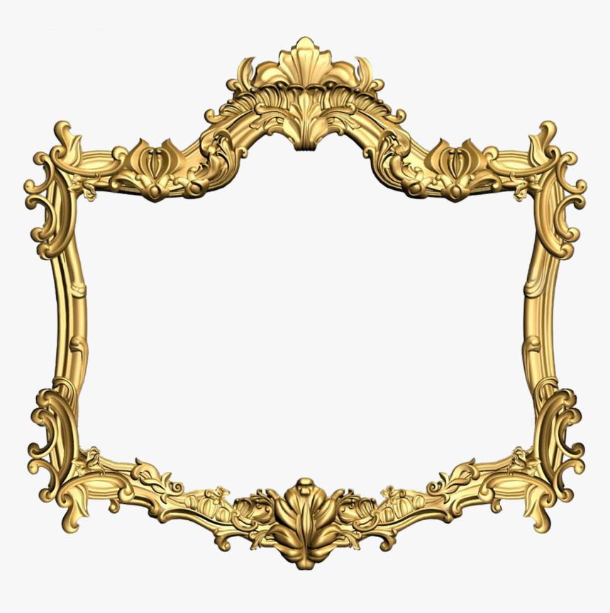 Frame, Carved, Gold, Design, Filigreed, Ornament - Gold Flower Frames Png, Transparent Png, Free Download