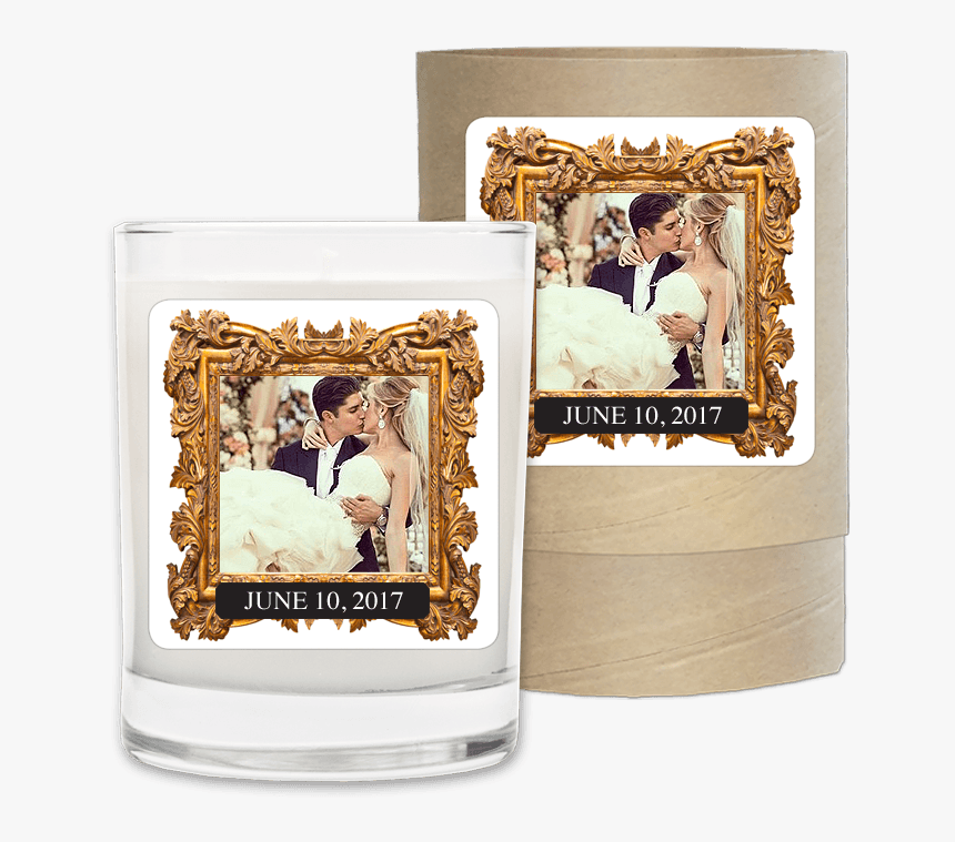 Wedding Date Gold Photo Frame - Picture Frame, HD Png Download, Free Download