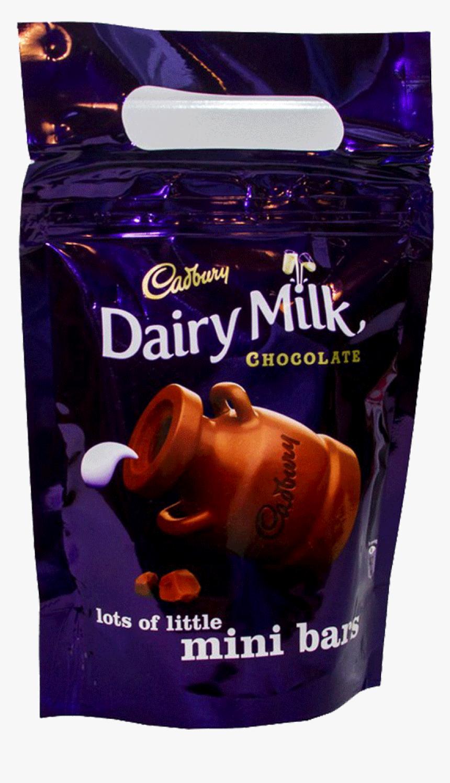 Cadbury Dairy Milk Chocolate Mini Bars Pouch 160 Gm - Cadbury Dairy Milk, HD Png Download, Free Download