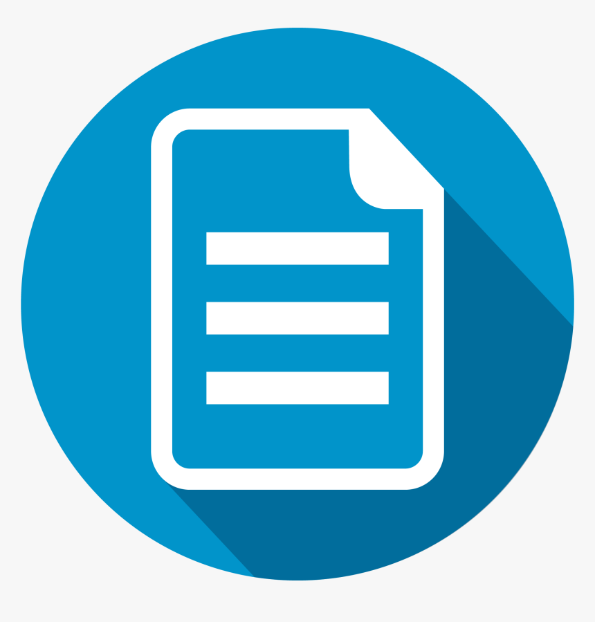 Circle Document Icon Png, Transparent Png, Free Download