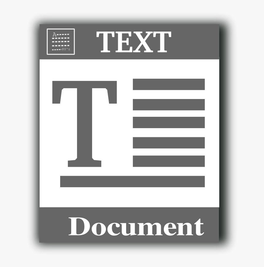 Free Vector Text File Icon 100713 Text File Icon - Text File Clipart, HD Png Download, Free Download