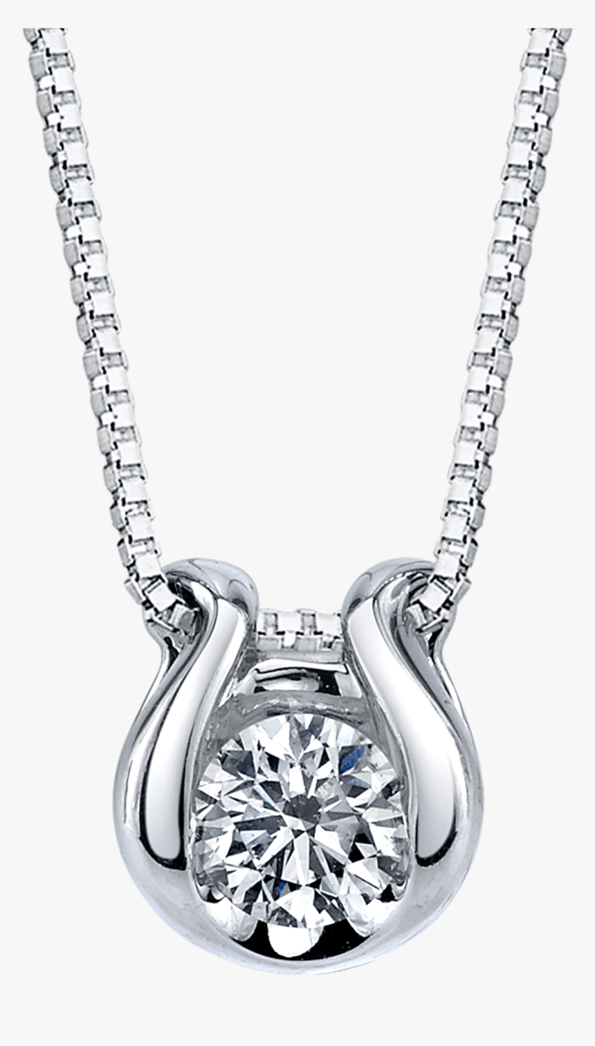 Picture Of Pdr-13651 - Solitaire Diamond Solitaire Gold Pendant Necklace, HD Png Download, Free Download