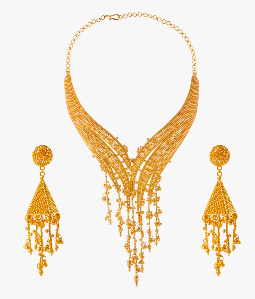 22k Gold Necklace Set - Gold Necklace Design Pc Chandra, HD Png Download, Free Download
