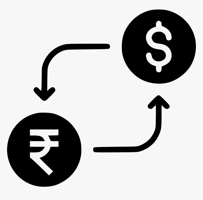 Indian Rupee - Rupee To Dollar Icon, HD Png Download, Free Download