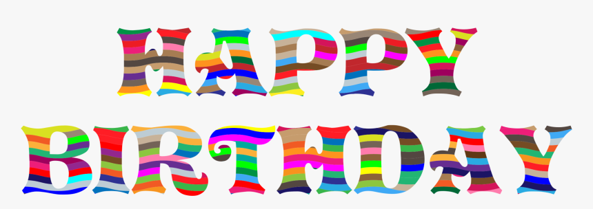 Text,graphic Design,party Supply - Clip Art Happy Bday, HD Png Download, Free Download