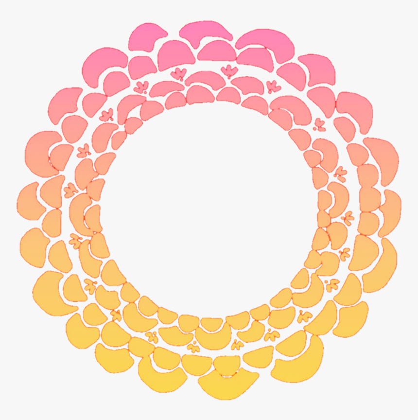 #flower #flowers #floral #round #wreath #frame #colourful - Flower Round Design Png, Transparent Png, Free Download