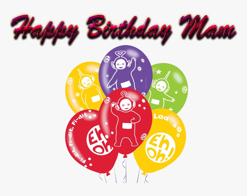 Happy Birthday Mam Png Background - Teletubbies 1st Birthday Invitation Card, Transparent Png, Free Download