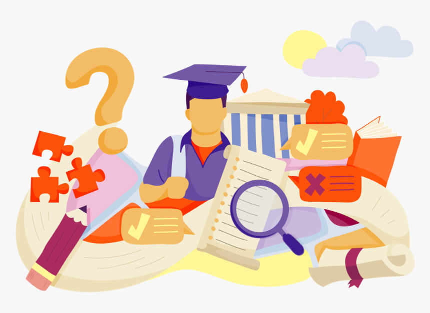 Illustration Of Various Education Related Objects Hd Png Download Kindpng