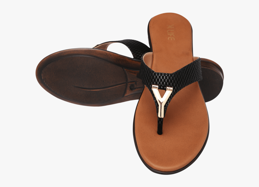 Womens Slipon Daily Wear Flat Chappal - Flip-flops, HD Png Download, Free Download