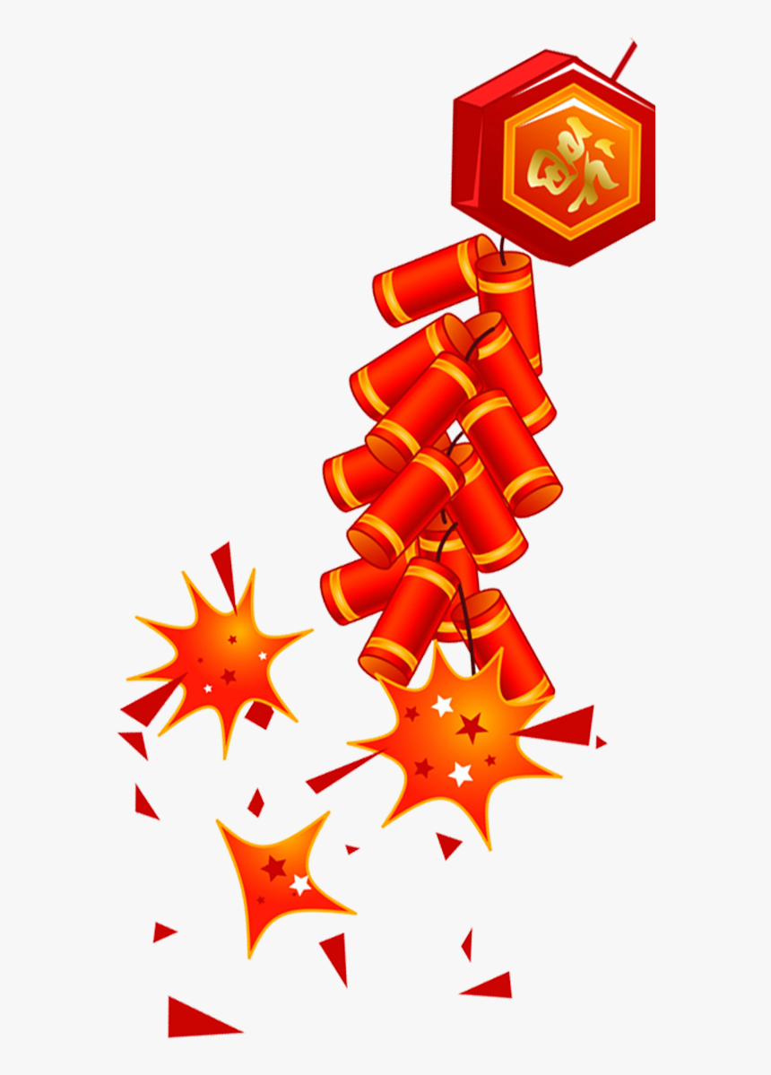 Firecracker Chinese New Year - Chinese New Year Firecrackers Transparent Png, Png Download, Free Download
