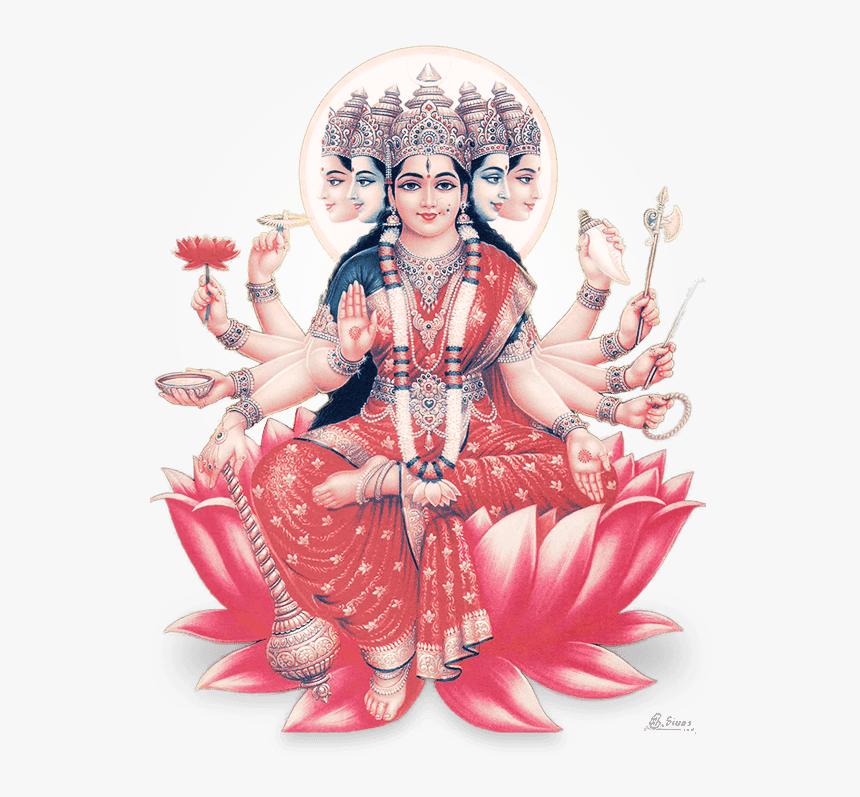 Sri Gayathri Devi - God Gayatri Devi Png, Transparent Png, Free Download