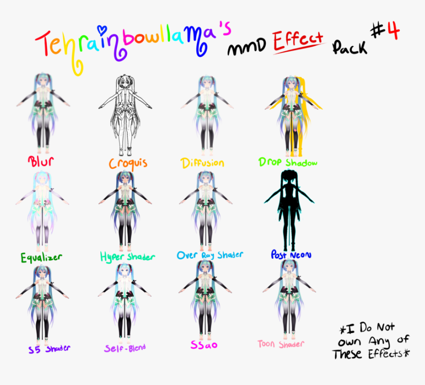 "Tehrainbowllama""s Mmd Effect Pack - Mmd Effect, HD Png Download, Free Download"