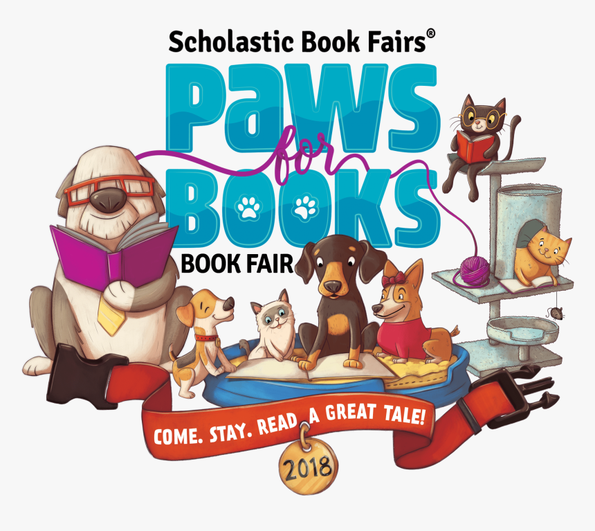 Paws For Books Scholastic Book Fair, HD Png Download, Free Download