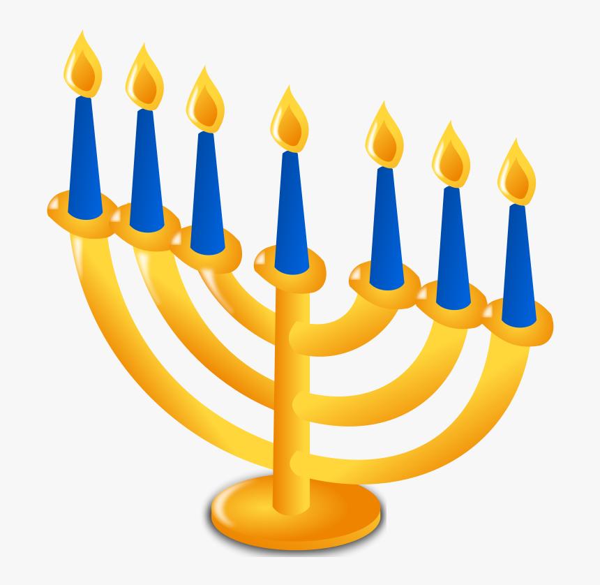 Clip Art Free Clipart Animations Menorah - Hanukkah Clipart, HD Png Download, Free Download