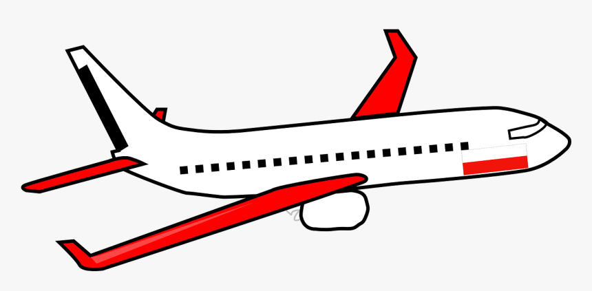 Airplane, Plane, Travel, Flight, Jet, Airliner - Transparent Background Airplane Clipart, HD Png Download, Free Download
