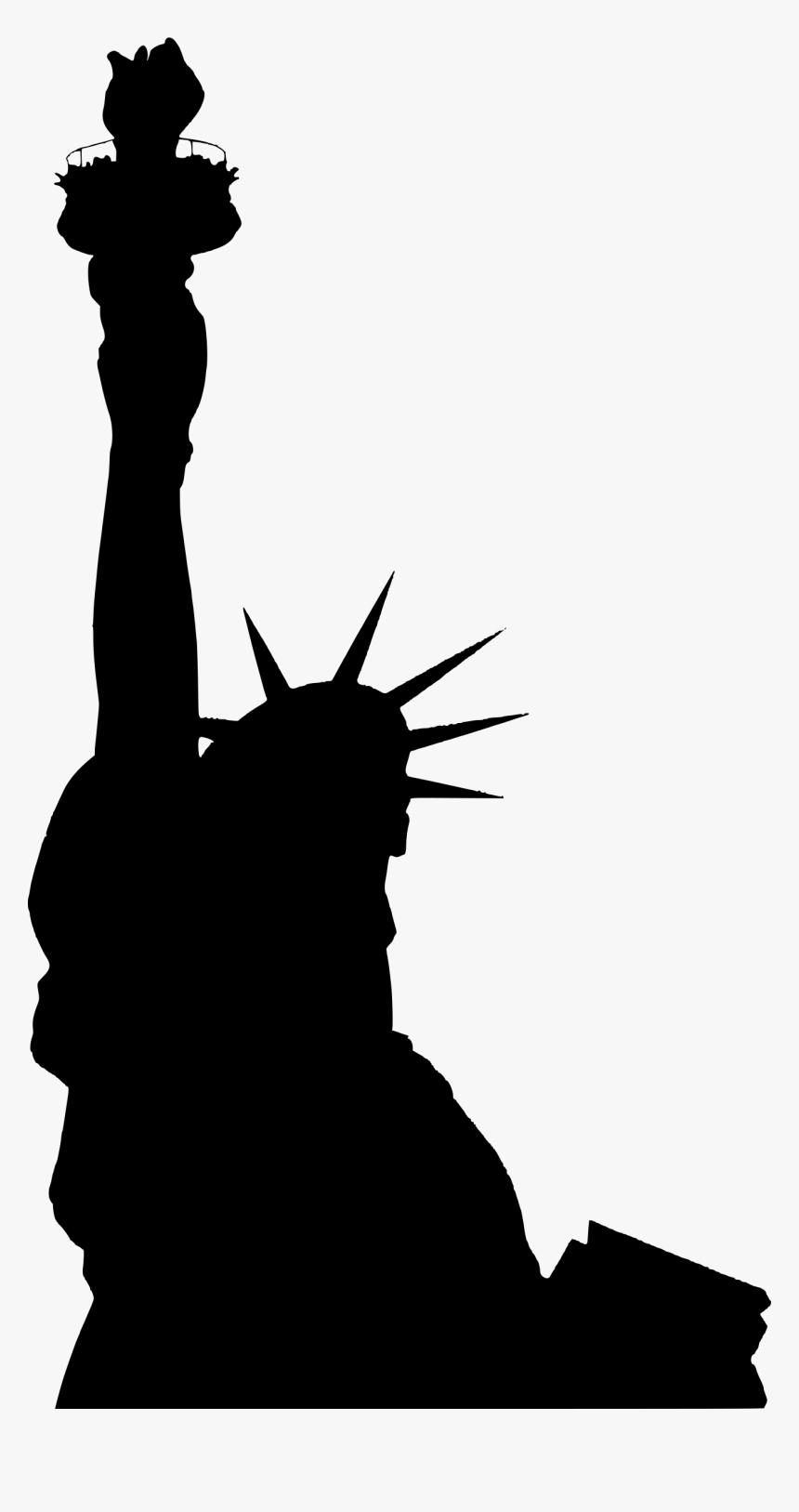Statue Of Liberty - New York Statue Of Liberty Silhouette, HD Png Download, Free Download