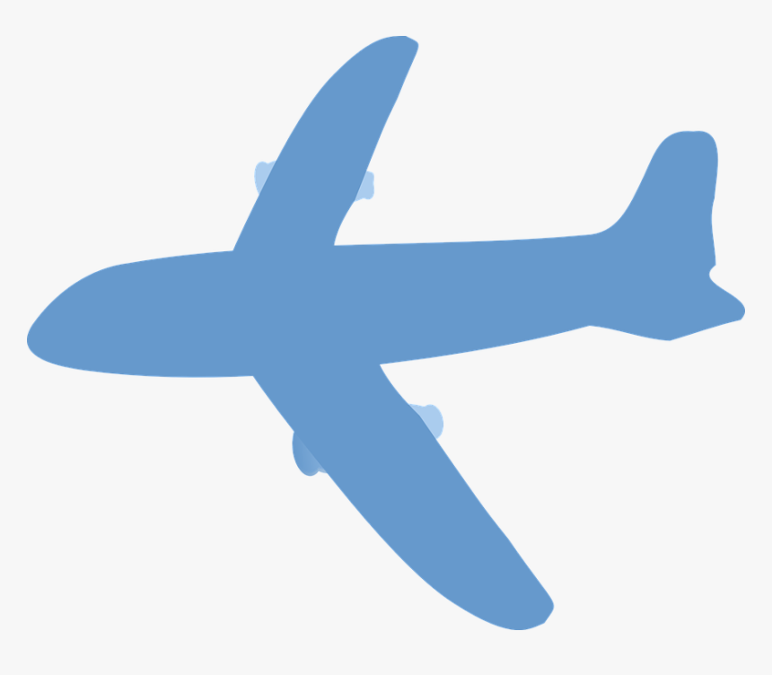 Vector Aircraft Wing Aviation Emblem With Wings And - Blue Airplane Silhouette, HD Png Download, Free Download