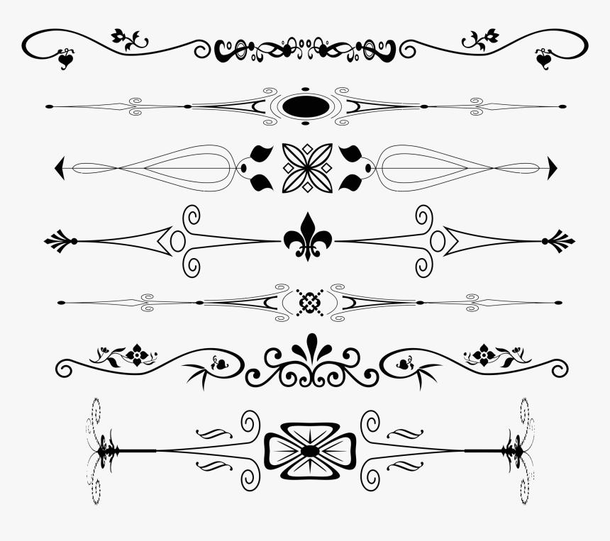 Ornament Plain Text Decorative Arts - Decorative Text Dividers Png, Transparent Png, Free Download