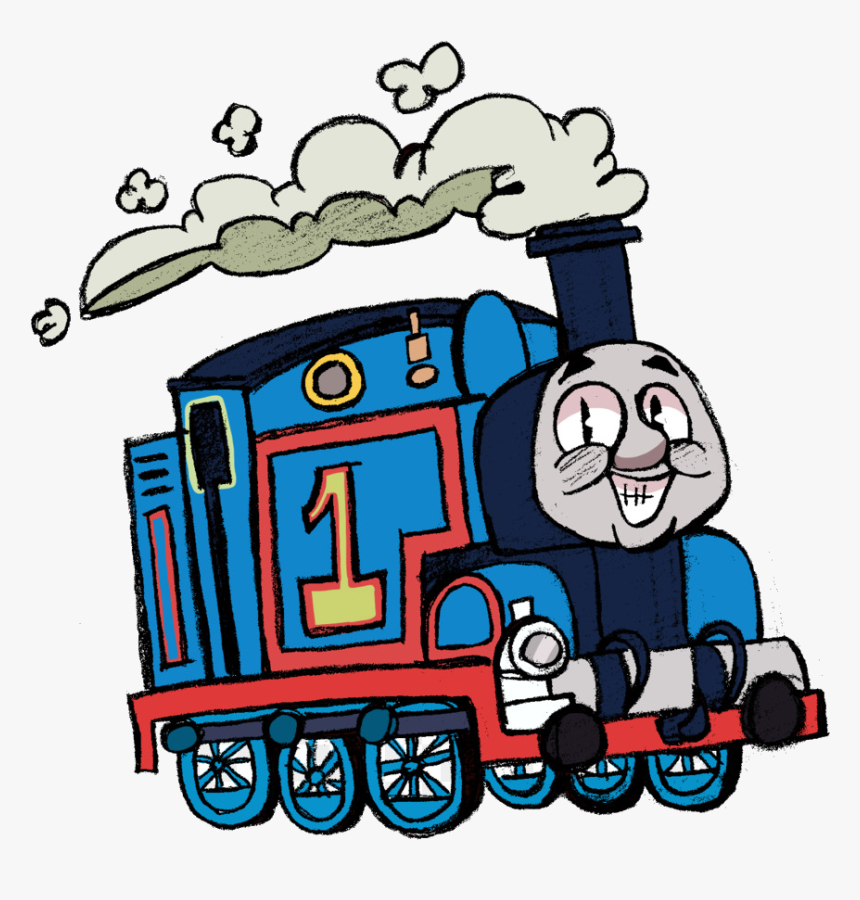 Thomas The Train Tank Engine Clipart Transportation - Thomas The Train Cartoon Drawing, HD Png Download, Free Download