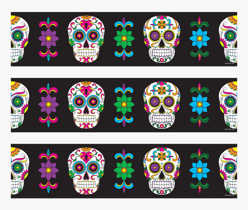 Photocake Edible Cake Banding - Day Of The Dead Border, HD Png Download, Free Download