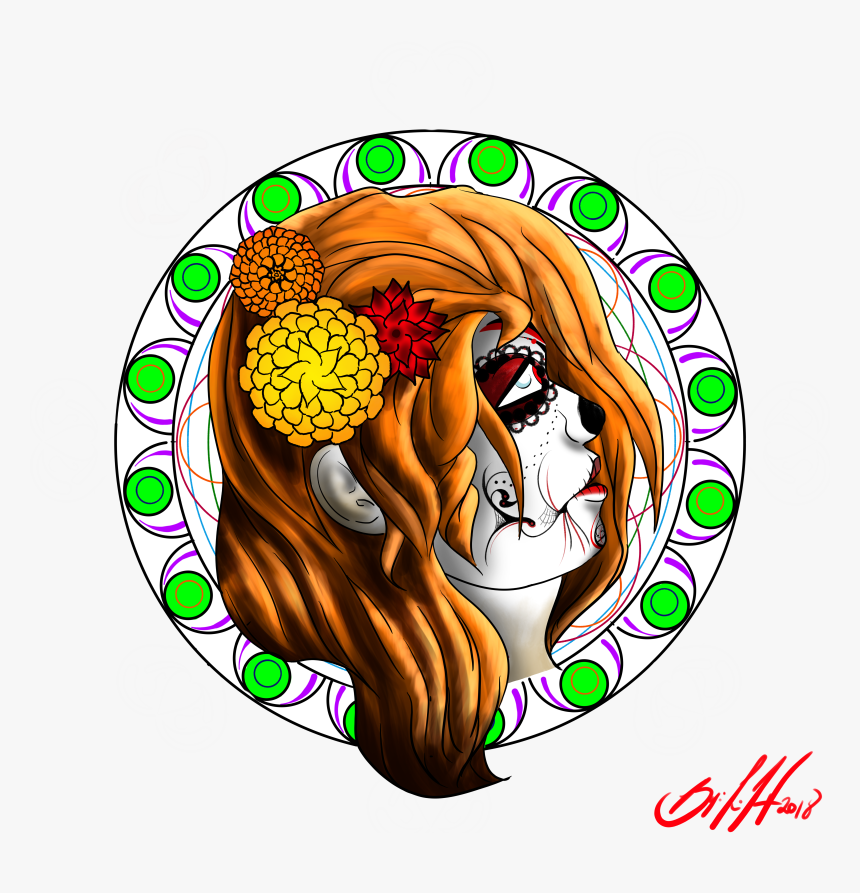 Dia De Los Muertos - Illustration, HD Png Download, Free Download