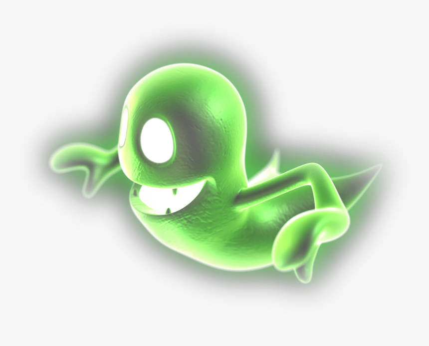 Transparent Ghost Png Luigi S Mansion 2 Green Ghost Png