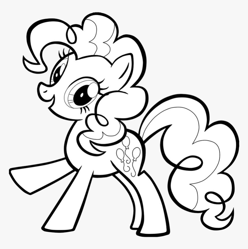 Little Pony - Pinky Pie My Little Pony Coloring Pages, HD Png Download -  Kindpng
