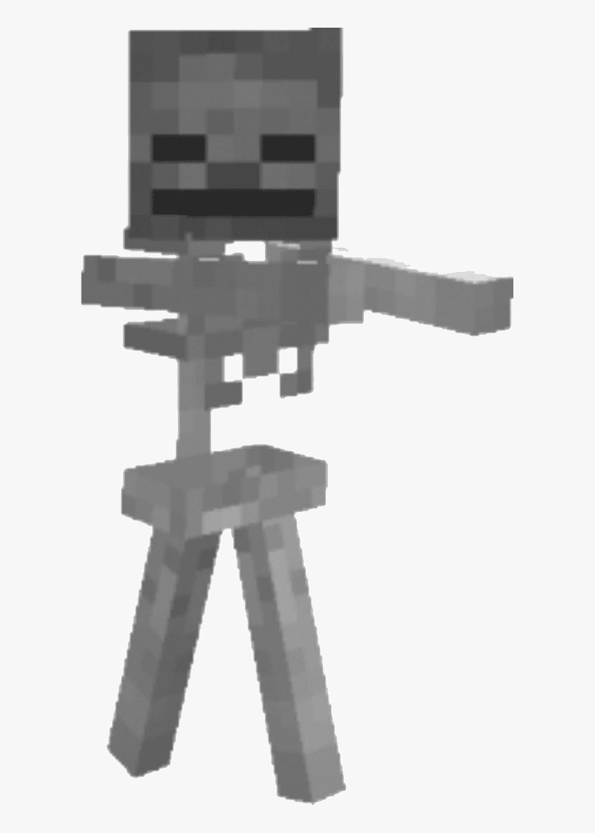 Skeleton Png Minecraft - Minecraft Skeleton In Game, Transparent Png, Free Download