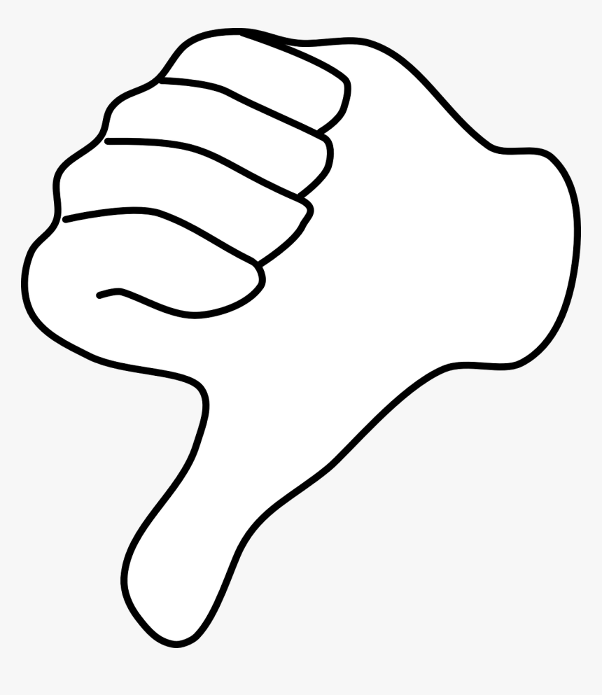Thumbs Down With Black Background, HD Png Download, Free Download