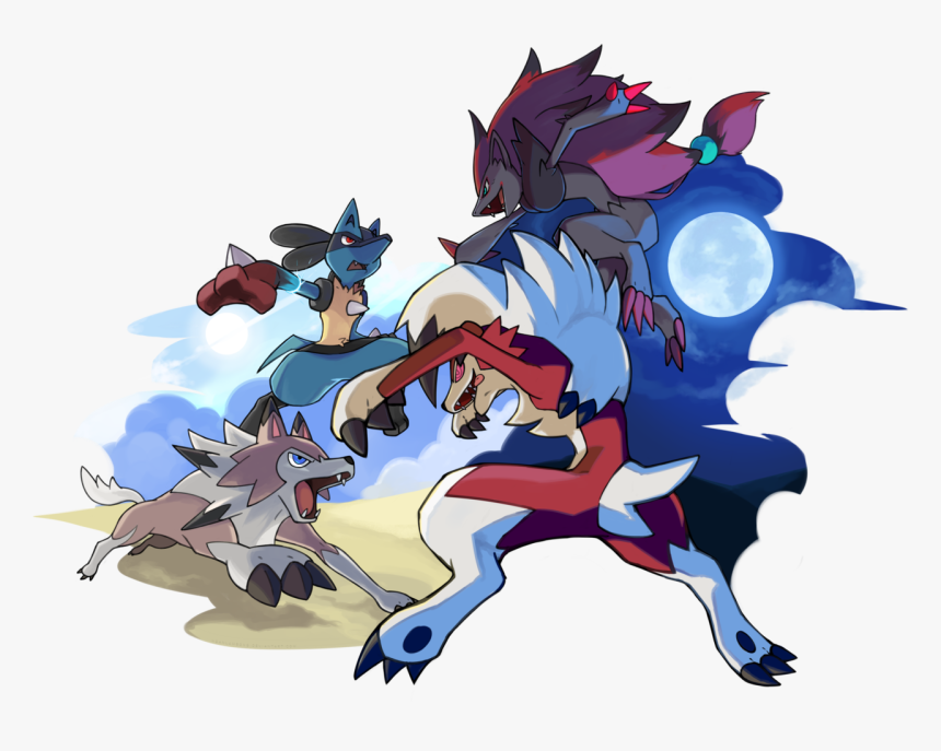 Pokémon Sun And Moon Pikachu Fictional Character Mecha - Pokemon Lycanroc New Form, HD Png Download, Free Download