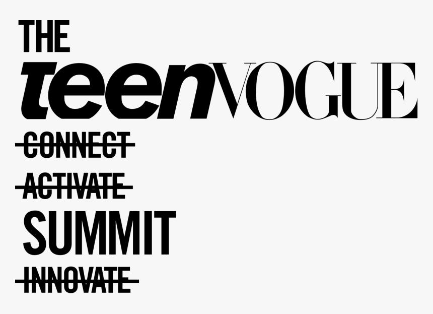 Teen Vogue Summit Logo, HD Png Download, Free Download