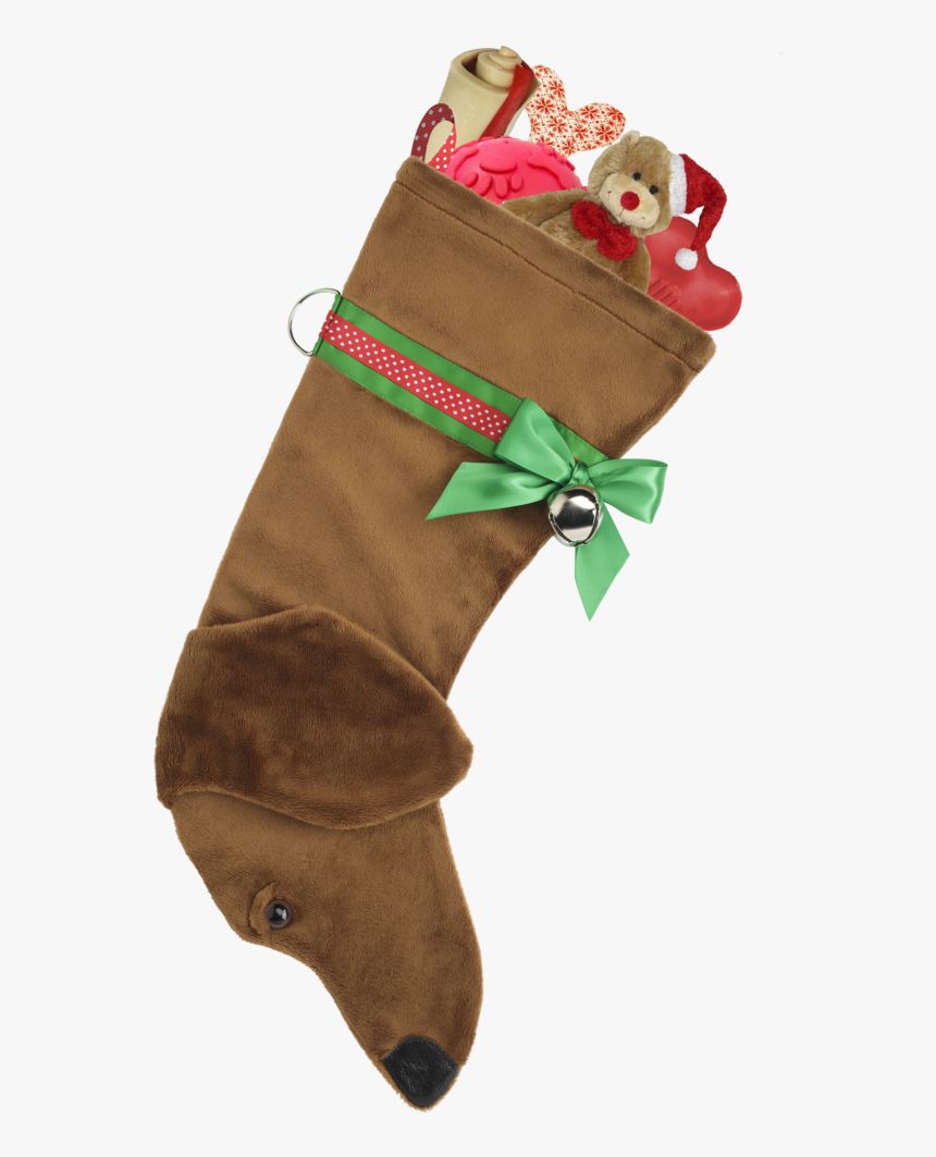 This Red Dachshund Christmas Dog Stocking Is Perfect - Dog Breed Christmas Stockings, HD Png Download, Free Download