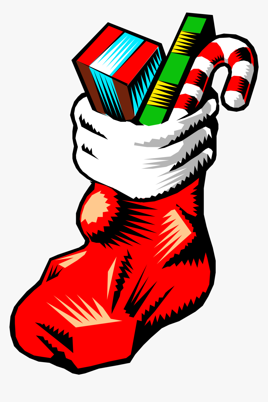 Clipart - Christmas Stocking Filled With Toys, HD Png Download, Free Download