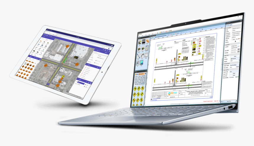 Rapidplan Software Demonstrated On A Laptop And Rapidplan - Invarion Rapid Plan, HD Png Download, Free Download