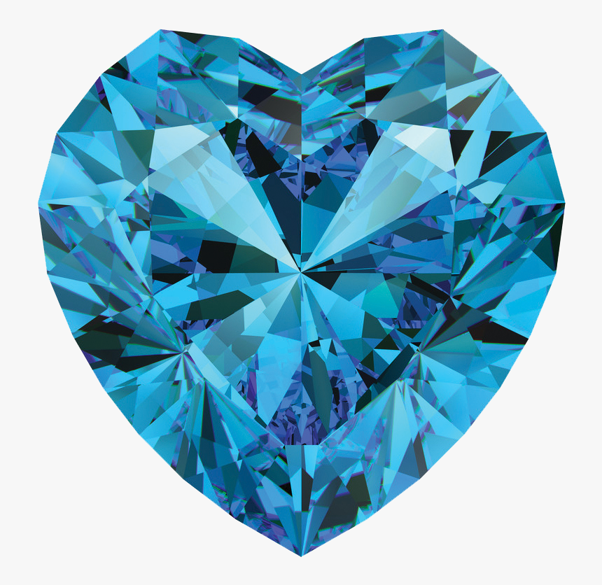 Blue Crystal Heart Png Transpa