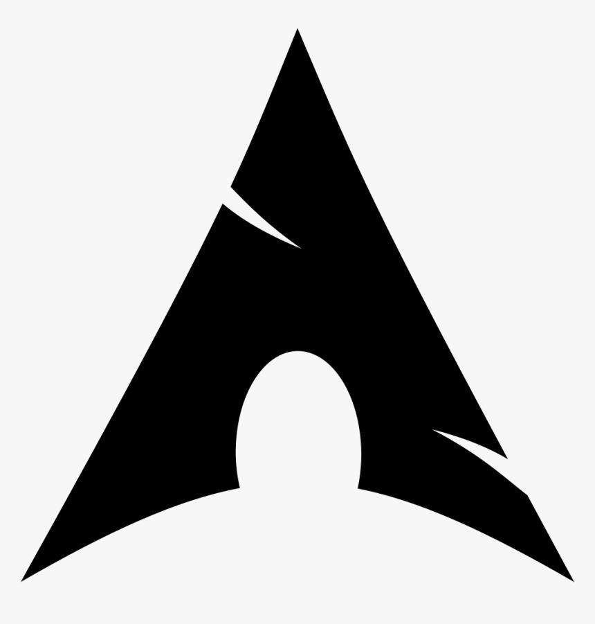 HD限定 Black Arch Linux Logo - がくめめ