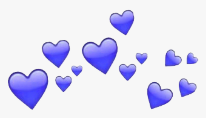 Blue Hearts Heart Crowns Heartcrown Tumblr Freetoedit - Corazones Png Emoji, Transparent Png, Free Download